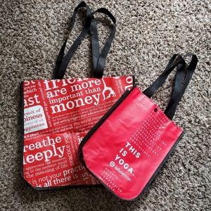 🔥Lululemon Large and Small Canvas Totes🔥